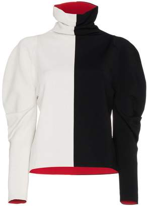 Haider Ackermann Colour Block Turtle Neck Jumper
