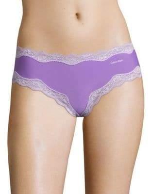 Calvin Klein Cheeky Lace Trim Bikini Panties