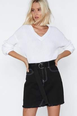 Nasty Gal Sew Sue Me Stitch Skirt