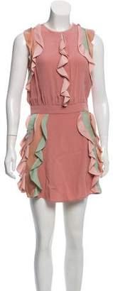 Alexis Ruffle-Trimmed Mini Dress