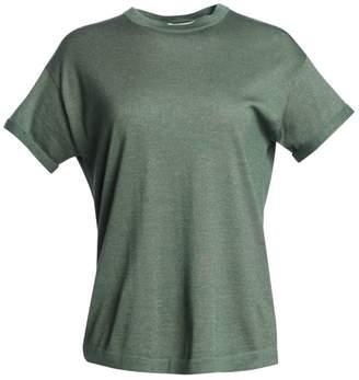 Brunello Cucinelli Cashmere & Silk-Blend Knit T-Shirt