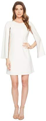 Donna Morgan Crepe Shift Dress with Long Sleeve Slit Detail Women's Dress