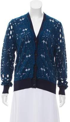 Lanvin Lace Long Sleeve Cardigan