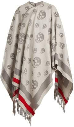 Alexander McQueen Skull wool and cashmere-blend cape