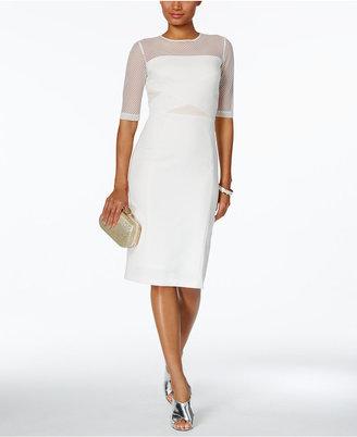 Jax Illusion Mesh Sheath Dress $148 thestylecure.com