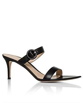 Gianvito Rossi Pointed Slip On 2 Strap Sandal Heel