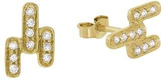 Celine Daoust Art Deco Diamond Stud Earrings