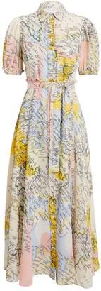 Derek Lam 10 Crosby Map Print Button Down Dress