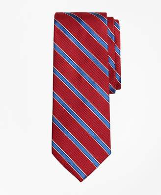 Brooks Brothers Textured Ground Framed Stripe Tie