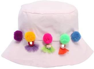 Bucket Hat W/ Pompoms
