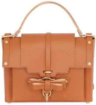 Niels Peeraer Medium Bow Buckle Leather Top Handle Bag