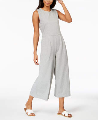 Eileen Fisher Cotton Cropped Jumpsuit, Regular & Petite