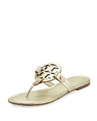 Tory Burch Miller Leather Logo Sandal $195 thestylecure.com