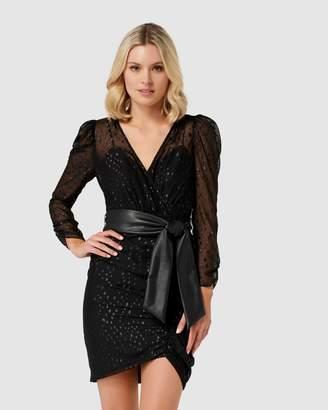 Forever New Esmerelda Metallic Spot Dress