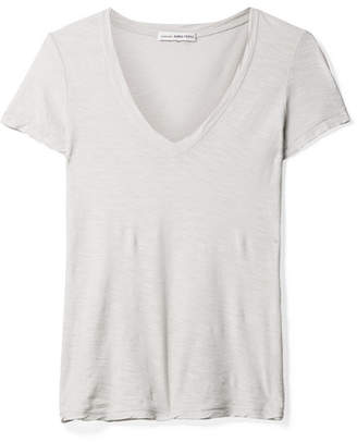 James Perse Casual Slub Supima Cotton-jersey T-shirt - Light gray