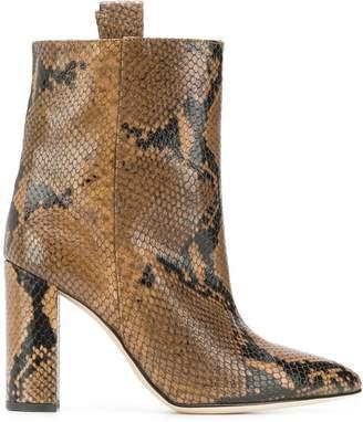 Paris Texas snakeskin effect ankle boots