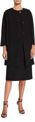 Kiton Wool Crepe Coat