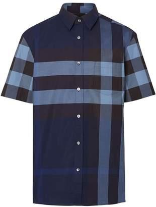 Burberry check short sleeve shirt
