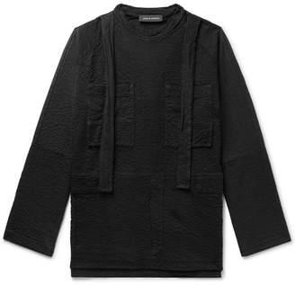 Craig Green Oversized Strap-Detailed Textured Cotton-Jersey Sweatshirt - Men - Black