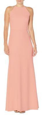Laundry by Shelli Segal Ruffled Back Gown $395 thestylecure.com
