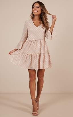 Showpo Lovers Charm dress in beige spot Casual Dresses