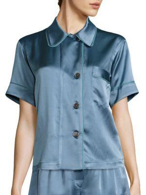 AraksAraks Shelby Silk Twill Pajama Top