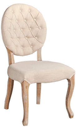 Linon Set Of 2 Bradford Linen Oval Back Chairs
