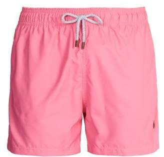 Retromarine - Block Colour Swim Shorts - Mens - Pink