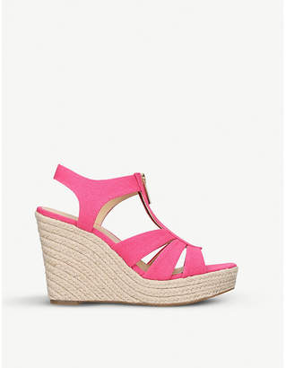 MICHAEL Michael Kors Berkley jute-wedge sandals