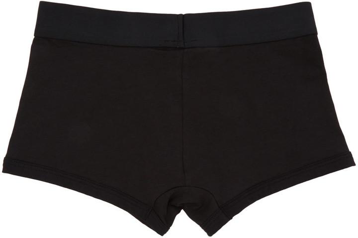 Versace Underwear Black Logo Boxer Briefs 2