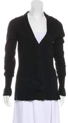 Burberry Knit Wool Ruffle Cardigan