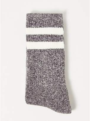Topman Mens Black Salt and Pepper Twist Tube Socks