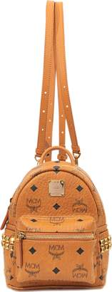 MCM X-Mini Stark Backpack in Cognac Visetos
