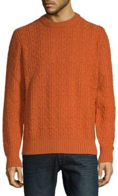 Brioni Cable-Knit Wool Sweater