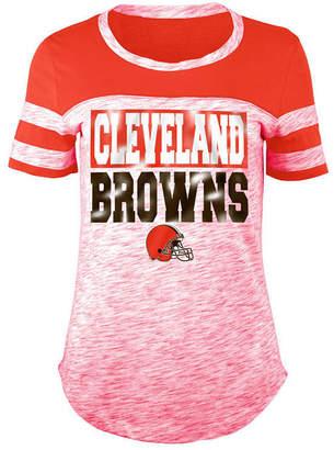 5th & Ocean Women's Cleveland Browns Space Dye Foil T-Shirt