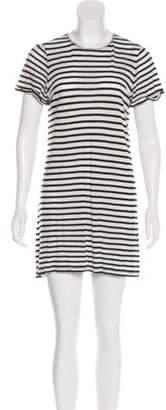 Alice + Olivia Linen Mini Dress White Linen Mini Dress