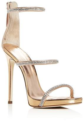 Giuseppe Zanotti Women's Coline Embellished Leather Strappy High-Heel Sandals