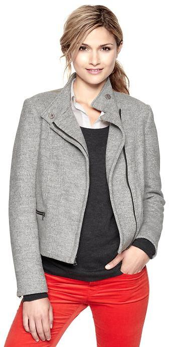 Gap Tweed moto jacket