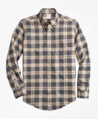 Brooks Brothers Madison Fit Multi-Plaid Flannel Sport Shirt