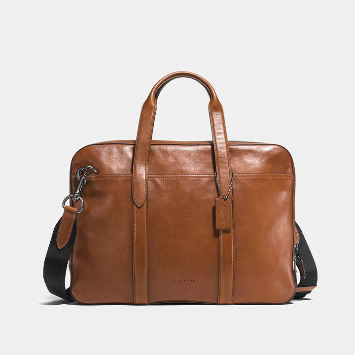 Coach   Coach Metropolitan Soft Brief In Sport Calf Leather