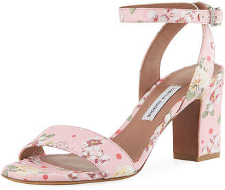 Tabitha Simmons Leticia Floral Block-Heel Sandal