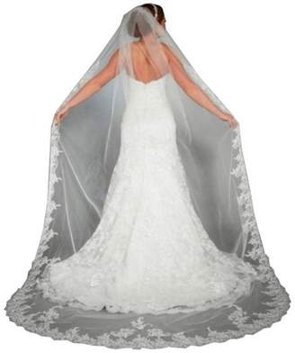 Xoemir Womens Cathedral Veil Long Lace Bridal Veils for Wedding Headpieces