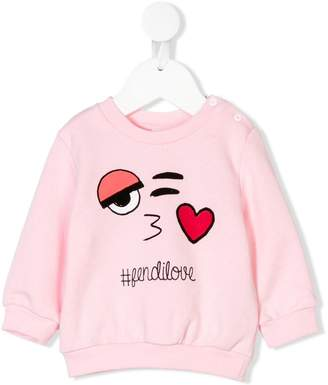 Fendi tfendilove printed sweatshirt