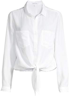 Bella Dahl Patch Pocket Tie Front Shirt