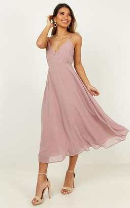 Showpo Calling You Baby dress in blush spot - 4 (XXS) Curve & Plus
