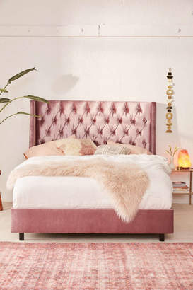 Charlotte Velvet Tufted Wingback Bed