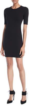 Alexander Wang Ribbed Cutout Logo Mini Dress