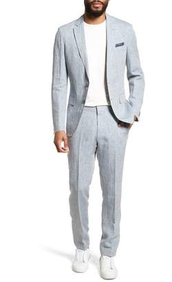 BOSS Helford/Gander Trim Fit Solid Linen Suit