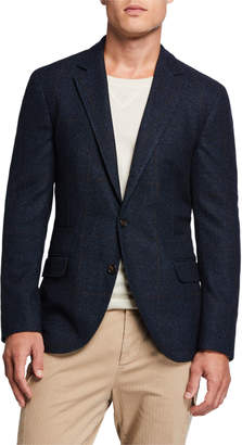 Brunello Cucinelli Men's Prince of Wales Traditional Deconstructed Blazer