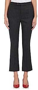 R 13 Women's Skinny Kick Flare Pinstriped Pants-Black